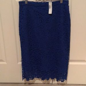 New J Crew Blue Lace Skirt